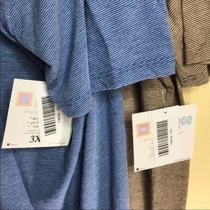 Lularoe Patrick Lot of 2 striped shirt sleeve 3XL